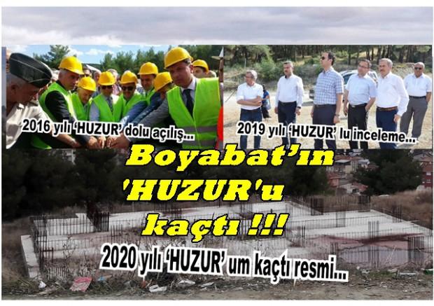 Boyabat'ın 'HUZUR'u kaçtı!!!