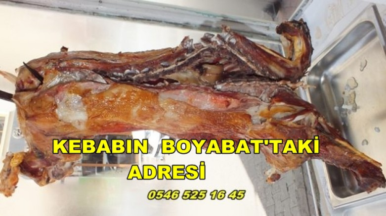 Boyabat Kanat Masıracı Kebab Salonu Damak Zevkinize Hitap Ediyor S