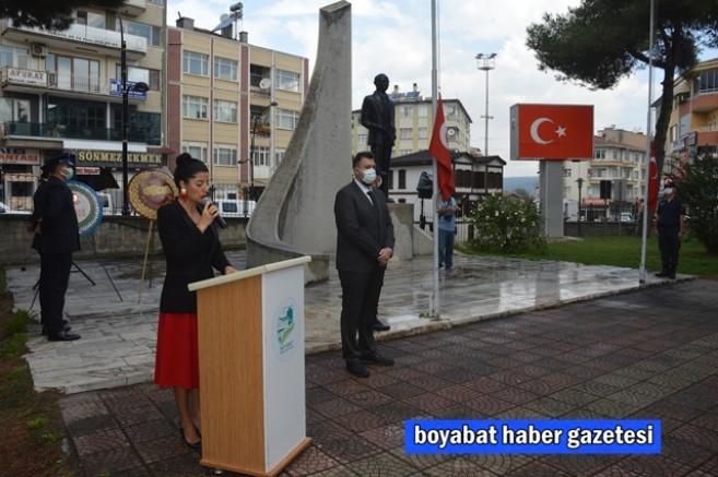 Boyabat'ta 19 Eylül Gaziler Günü Anma programı düzenlendi