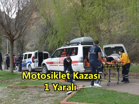 Boyabat'ta Motosiklet Kazası 1 Yaralı