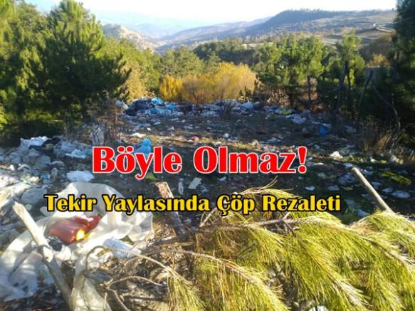 Durağan Tekir Yaylası Ormanlık Alanında Çöp Rezaleti!