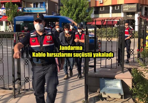 Kablo Hırsızlarına Boyabat Jandarmasından Suç Üstü Baskın