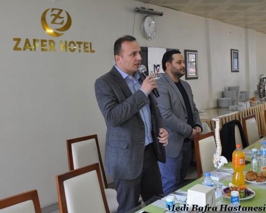 Medi Bafra Hastanesi Boyabatlı Muhtarlarla Buluştu