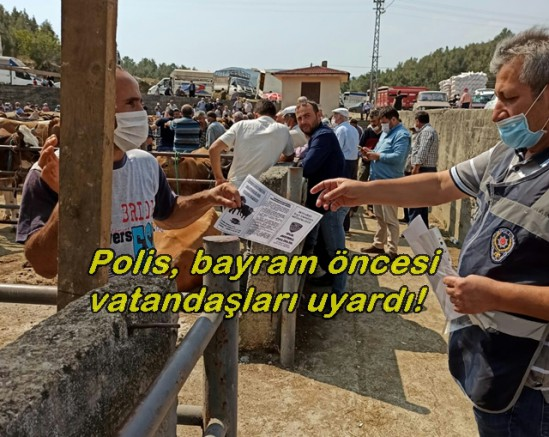 Polis, bayram öncesi vatandaşları ve kurban satıcılarını