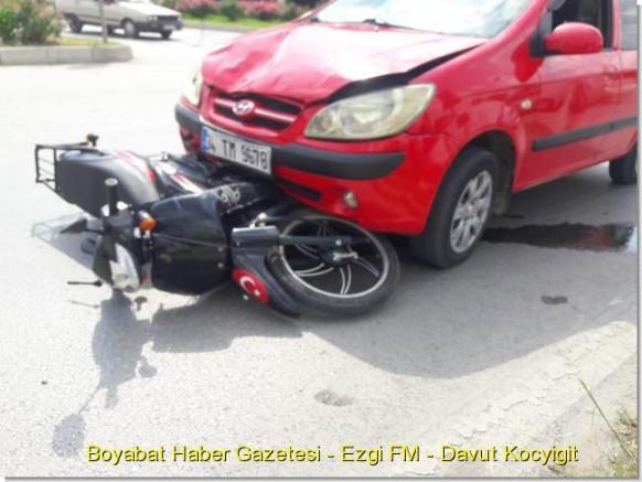 Saraydüzü-Durağan Kavşağında Kaza: 1 Yaralı