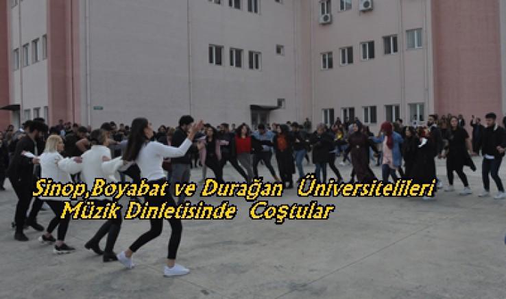 Sinop,Boyabat ve Durağan  Üniversitelileri Müzik Dinletisinde  Coştular