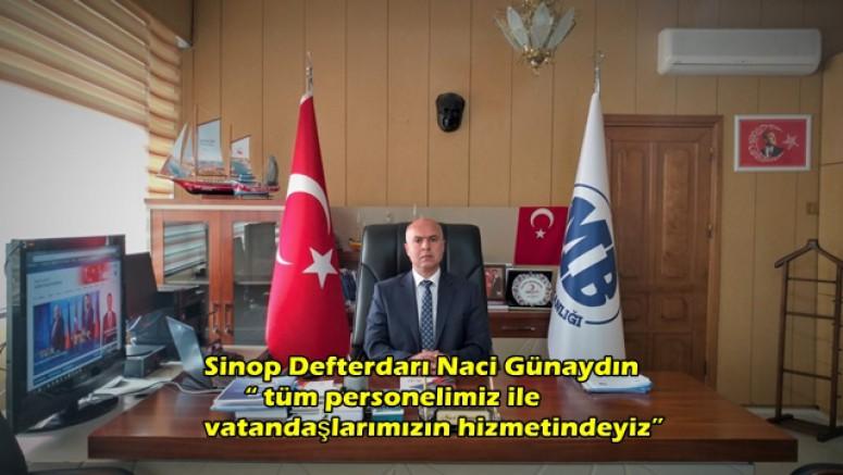 """Sinop Defterdarı Naci Günaydın 7256 sayılı kanunu tanıtarak  """" tüm personelimiz ile vatandaşlarımızın hizmetindeyiz"""" dedi"""