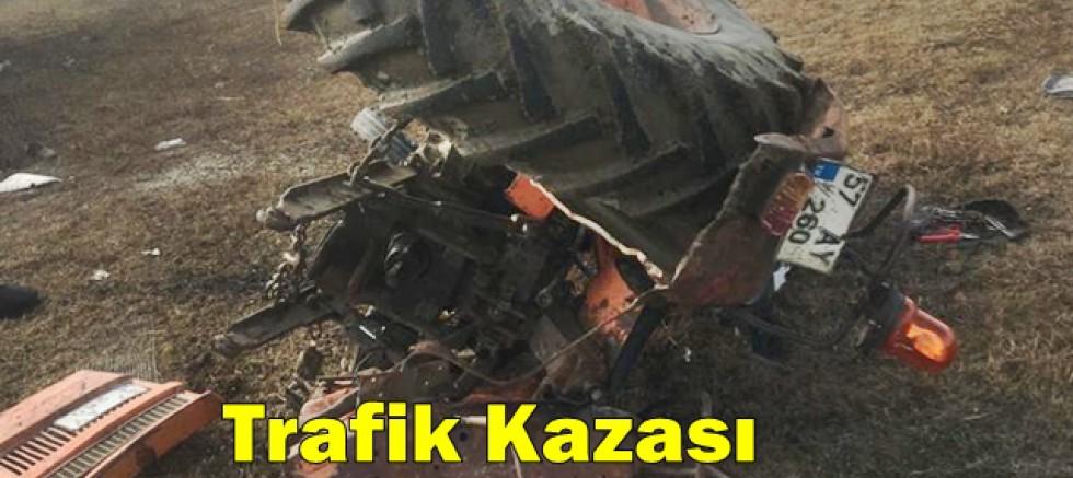 Trafik Kazası  81 Yaşındaki Traktör Sürücüsü Ağır Yaralı